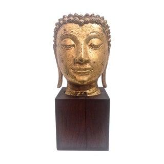 Antique Thai Bronze Fragmentary Head of Buddha