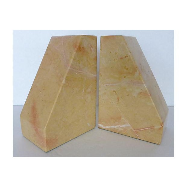 Beige Marble Architectural Bookends - Image 3 of 6