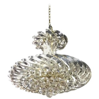 Mid Century Lucite and Decorative Balls Chandelier - A Pair