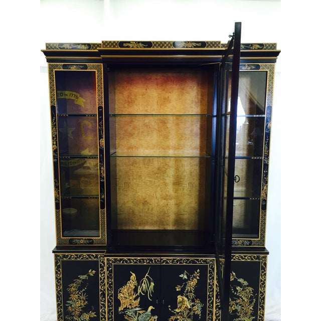 Vintage 1980s Drexel Heritage Asian Chinoiserie China Cabinet - Image 6 of 11