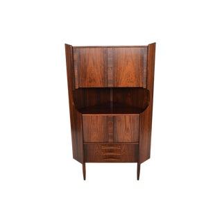 Danish Modern Rosewood Corner Bar