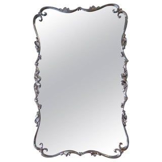 Large Mid-Century Nickel Mirror