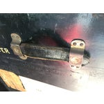 Image of Vintage 19th Century Black Steamer Trunk