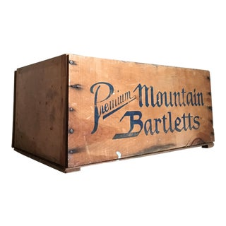 Vintage Premium Mountain Bartletts Wooden Crate