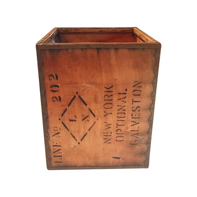 Vintage New York Shipping Crate - Image 1 of 5
