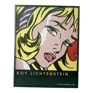 Roy Lichtenstein Girl with Hair Ribbon, 2003, Framed Lithograph Poster