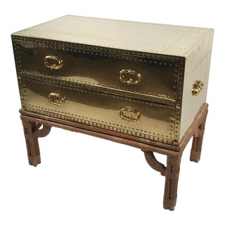 Brass & Bamboo Campaign-Style Chest