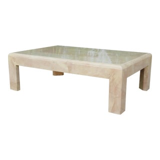 Karl Springer Style Goat Skin Coffee Table