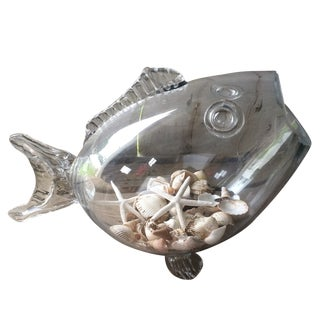 Glass Fish Sculpture / Vase/ Vessel