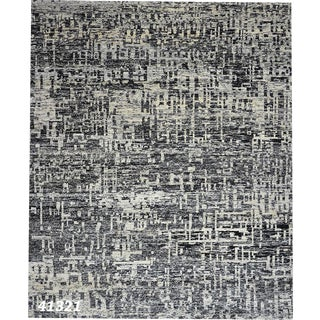 Modern Abstract Black & Gray Area Rug - 8' X 10'