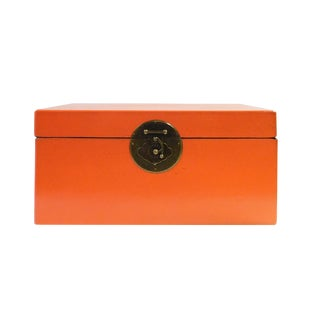Chinese Orange Rectangular Shape Container Box