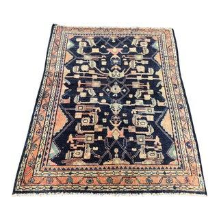 Vintage Persian Mahal Rug - 3′7″ × 4′9″