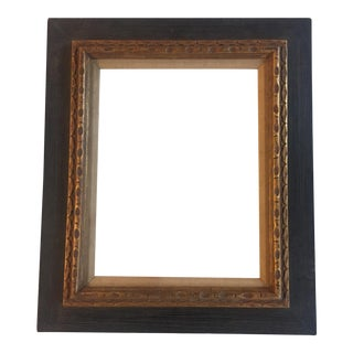 Mid-Century Modernist Black &Gold Wood Frame