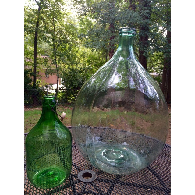 Vintage Italian Demijohn, Personalized Set - Image 2 of 8