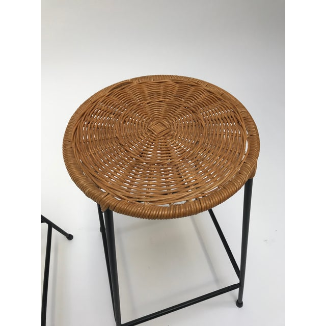 Vintage Arthur Umanoff metal frame counter stools - a Pair - Image 4 of 11