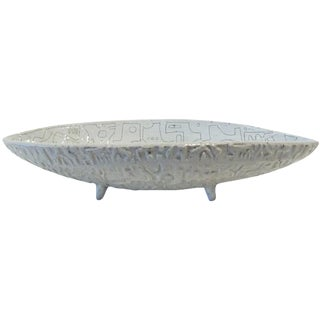 Scribed Oblong Bowl by Heather Roseman