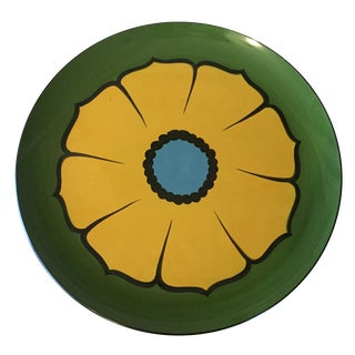 Retro Lacquered Flower Tray