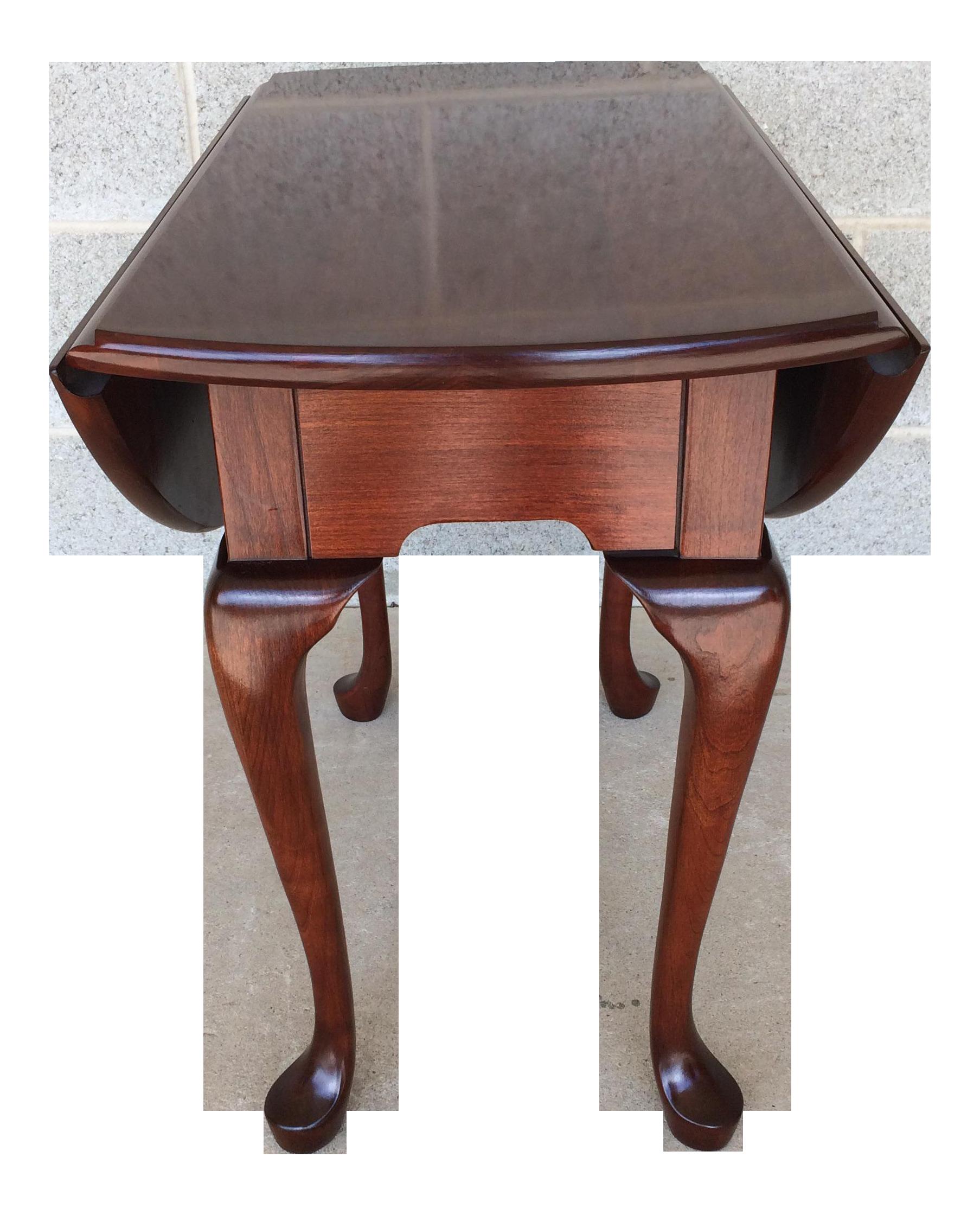 Vintage Pennsylvania House Cherry Wood Drop Leaf Table