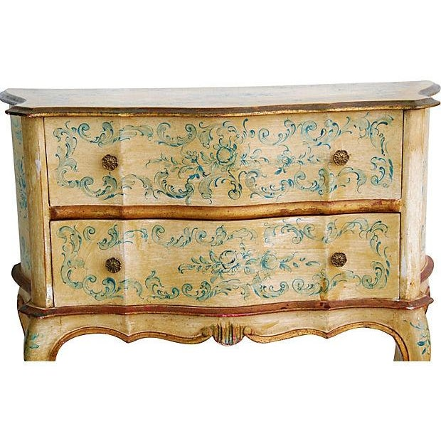 Image of 1940s Italian Hand Painted Commode Chests