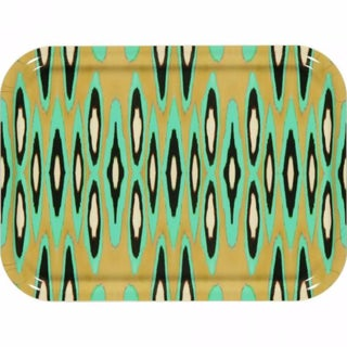Ikat Cocoa & Turquoise Tray