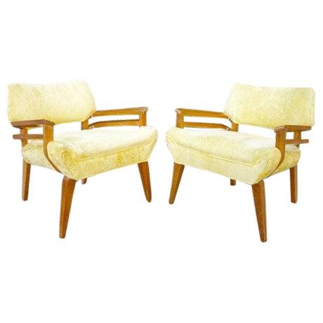 Image of Paul Laszlo for Brown Saltman Lounge Chairs - Pair