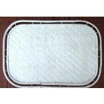 Image of Hollywood Regency White Bamboo Rattan Trays