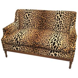 Mid-Century Leopard Print Sofa