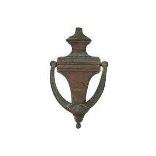 1920s Brass Urn Door Knocker