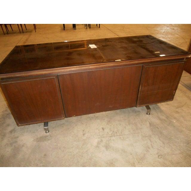 Mid-Century Modern Walnut Executive Desk - Image 5 of 5