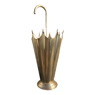 Mid-Century Brass Umbrella Shaped Stand