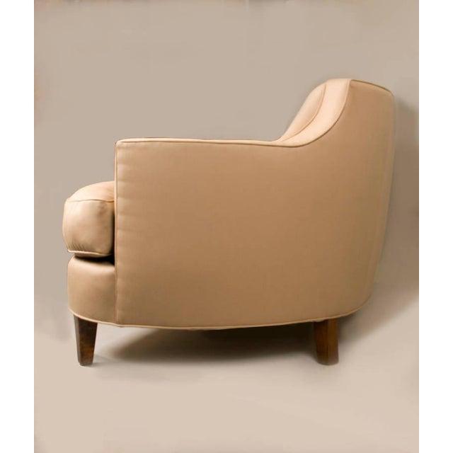 Image of Sister Parish Wool Fabric Upholstered Mid-Century Sofa