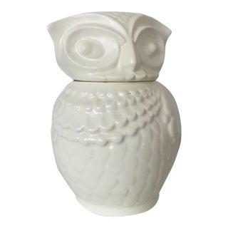 "Vintage ""American Bisque"" White Owl Cookie Jar"