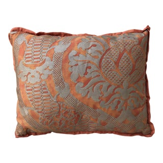 Rust & Silvery Gold Fortuny Pillow