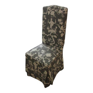 French Mouton Chinoiserie Slip Covered Chair