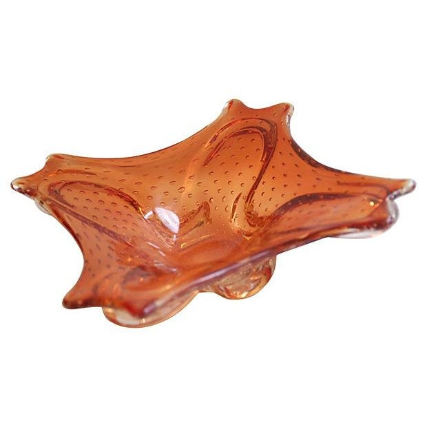 Image of Mid-Century 1960s Italian Murano Glass Dish