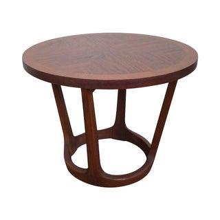 Lane Mid-Century Modern Round Walnut Side Table