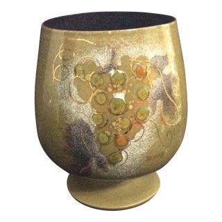 Sascha Brastoff Enamel On Copper Urn