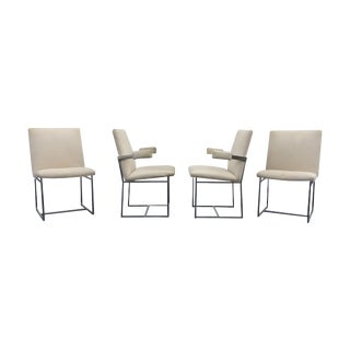 Milo Baughman Chrome Dining Chairs - Set of 4
