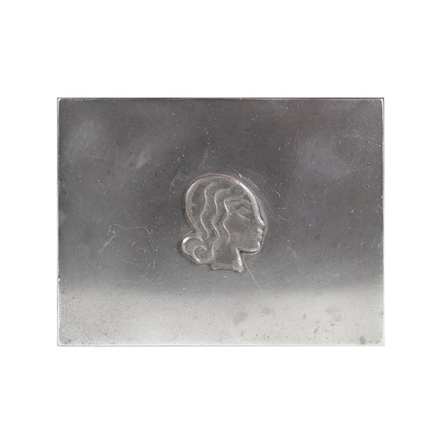 Midcentury Danish High Relief Pewter Box - Image 4 of 4