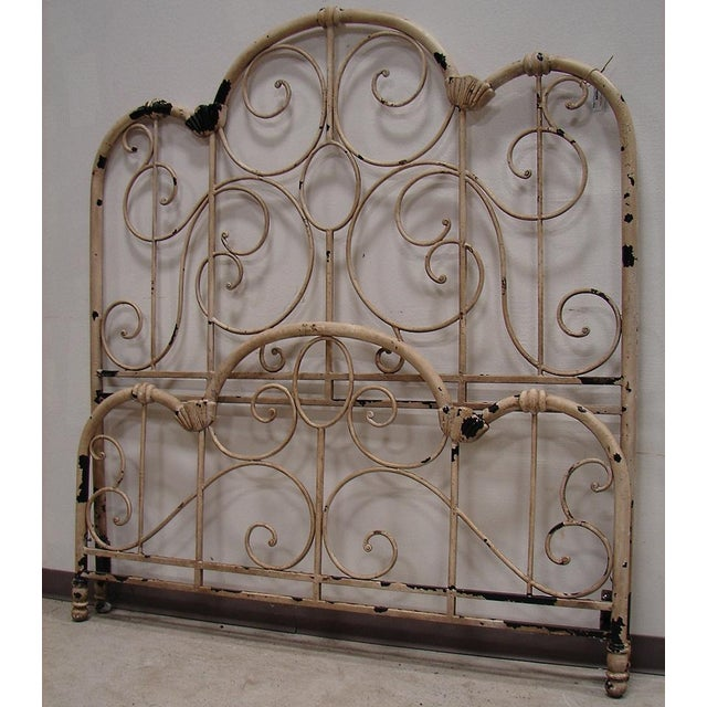 Distressed Wrought Iron Queen Bed - Image 2 of 3