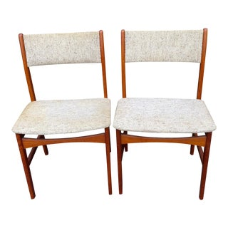 Danish Modern Teak Dining Chairs - A Pair