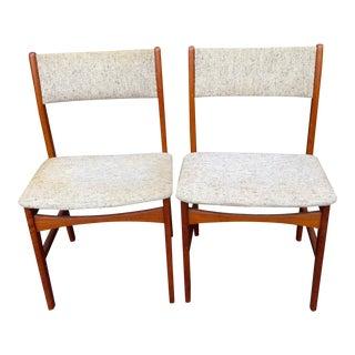 Danish Modern Teak Dining Chairs - A Pair