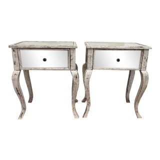 Notre Monde Mirrored Side Tables - A Pair