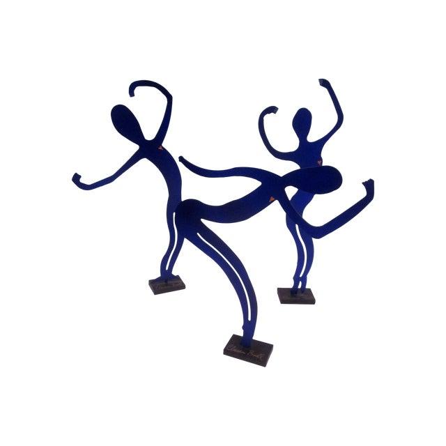 Image of Modernist Abstract Dancer Steel Sculptures - Set 3