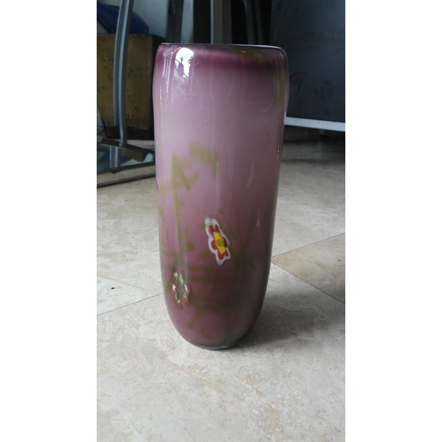 Image of Mille Fiore Purple Glass Vase