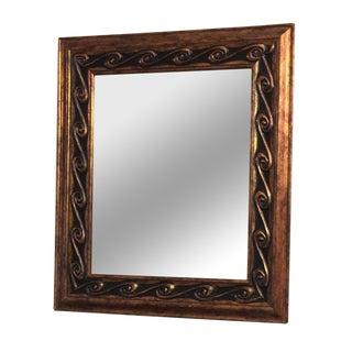 Copper Waves Mirror