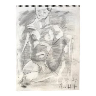Seated Male Nude Drawing
