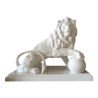 Large Vintage Spanish Ceramic Lion