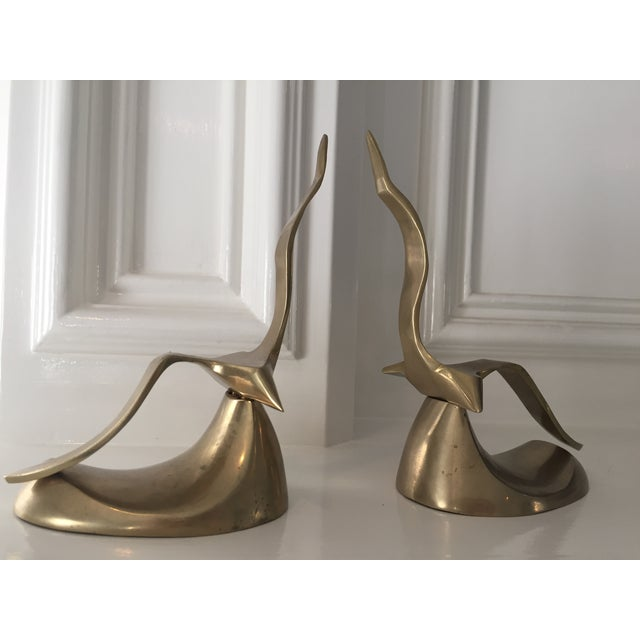 Image of MCM Brass Bird Bookends - A Pair