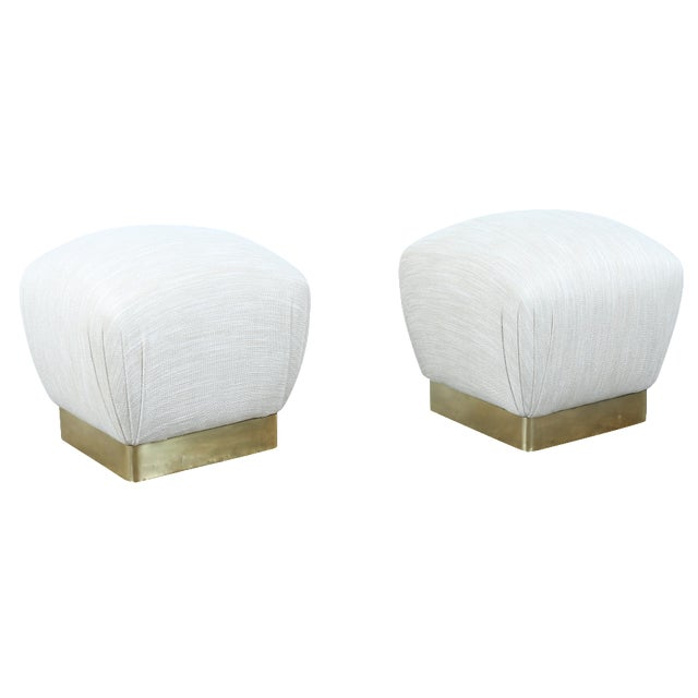 Karl Springer Soufflé Ottomans - A Pair - Image 1 of 10